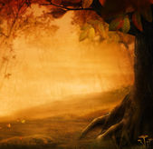 Autumn design - Forest in fall