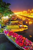 Hajók a tet, a vietnami saigon virágpiac