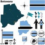Постер, плакат: Map of Botswana