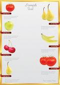 Katalog potravin vektor