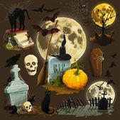 Clip art illustrations for Halloween celebration