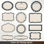 Vektor Rahmen Aufkleber Set dekorative Vintage Dekoration