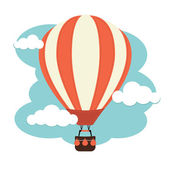 A hot air balloon against a cloudy Sky
