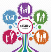 Family concept background Abstract tree with family silhouettes