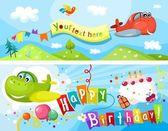 Vector illustration of a birthday card