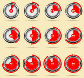 Red vector timers - easy change time every one minute