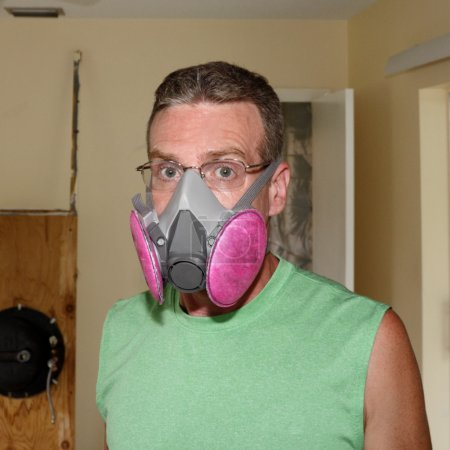 wearing a mold mask