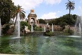 Szökőkút a parc de la ciutadella, Barcelona, Spanyolország
