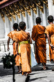 Egy buddhista szerzetes, Bangkok, Thaiföld