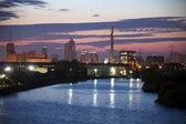 Průmyslová oblast řeky chicago