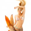 Постер, плакат: Beautiful mermaid girl with fish tail