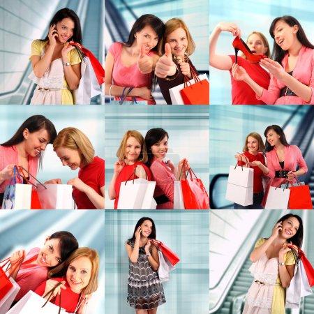 Two women shopping