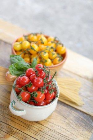 樱桃西红柿和意大利面