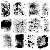 Grunge Textures - for design or scrapbook - vector set