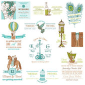 Wedding Vintage Invitation Collection - for design, scrapbook