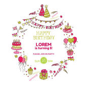 Birthday Party Invitation Card - with place for your text