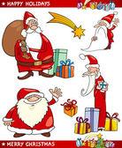 Mikulás és karácsonyi témák rajzfilm készlet