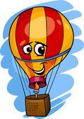 Cartoon Illustration of Funny Hot Air Balloon Comic Mascot Character