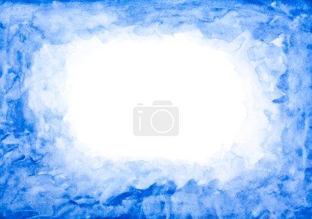 蓝色水彩帧