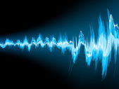 Zvukové vlny abstraktní pozadí. EPS 10