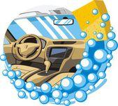 Car interior wash