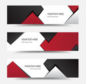 This image is a vector file representing a modern banner set