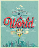 Around the world poster Vector illustration