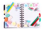 školních a kancelářských potřeb. zpátky do školy koncept
