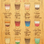 Постер, плакат: Shots menu kraft