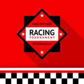 Racing badge 02 vector illustration