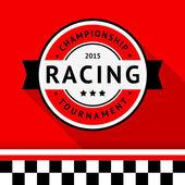Racing badge 04 vector illustration