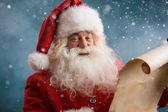Santa claus čtení vánoční dopis