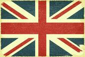Grunge poster - British flag in Retro style - Vector illustration