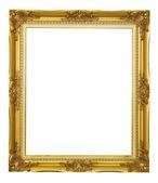 Zlatý rám na bílém pozadí