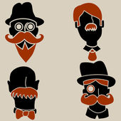 An image of abstract moustache men