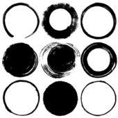 Set of brush stroke circles