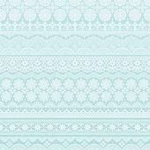 Sfondo di colore azzurro di lace trim