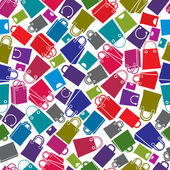Shopping bags seamless background vector icon set elements easy to use separately as icons