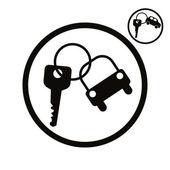 Auto klíče vektor zjednodušující ikona