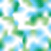 Seamless bright green and blue out of focus vector background with regular dots
