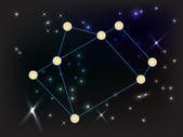 Constellation of Sagitarius in dark sky with lines shapes vector encapsulated post script format
