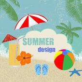 Letní retro design plakátu