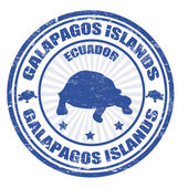 Blue grunge rubber stamp with the text Galapagos Islands written inside vector illustration