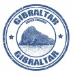 Постер, плакат: Gibraltar stamp