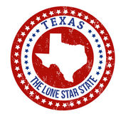Vintage stamp with text The Lone Star State written inside and map of Texas vector illustration