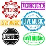 Постер, плакат: Live music stamp