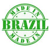 Made in Brazil grunge rubber stamp on white vector illustration