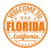 Welcome to Florida grunge rubber stamp on white background vector illustration