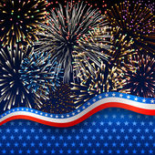 A tűzijáték hazafias háttér