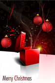 Christmas Greeting with Open Box